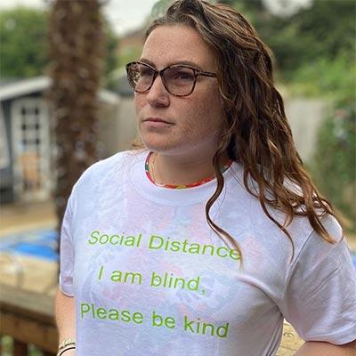 Social Distance I am Blind, Be Kind T-shirt